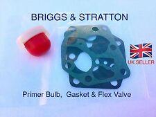 CARBURETTOR Carb Primer Bulb & Valve Gasket Kit  BRIGGS AND STRATTON