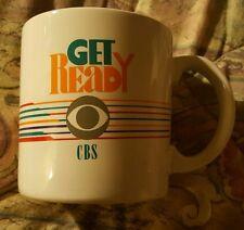 "CBS ""Get Ready"" - Kmart [Ceramic] COFFEE MUG 80s-90s (RETRO) Ltd. with box"