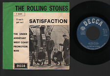 "7"" ROLLING STONES SATISFACTION / THE UNDER ASSISTANT... ITALY LARGE GREEN LINE"