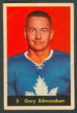1960 61 PARKHURST HOCKEY #5 GARY EDMUNDSON EX COND TORONTO MAPLE LEAFS CARD