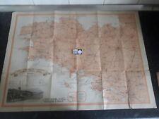 Ancien carte touristique de Bretagne cinq départements éditée par Amieux Frères