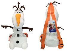 "DISNEY'S FROZEN OLAF PLUSH BACKPACK! ORANGE STRAP SOFT STUFFED 18"" NWT"