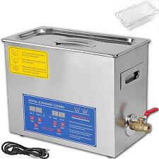 Stainless Steel 6 Liter Heated Ultrasonic Cleaner Heater 6L Dental Medical Timer
