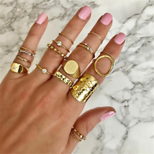 Women 2020 Bohemia New Fashion Women's Full Rhinestone Ring Knuckle Finger Set