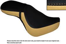 Black & Beige personalizado se adapta a Triumph Latina Bonneville 11-15 de doble cubierta de asiento