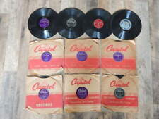 Vintage 1950s 78 RPM Records LOT of 10-King Cole Trio, Jo Stafford, Pied Pipers
