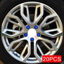 20x Blue Car Wheel Tyre Tire Hub Screw Nuts Bolt Rubber Cap Cover Accessories