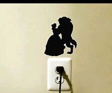 Beauty / Beast light switch decal sticker laptop baby nursery girl home decor