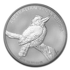 2010 Australia Kookaburra 1 oz .999 Fine Silver Coin Excellent condition w/ cap