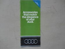 Accessories that match the elegance of your Audi sales brochure 1981