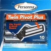 Personna Twin Pivot Plus Cartridges for Gillette, Atra, Trac II-(1 Pack of 10)