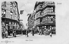 Wine Street Bristol HTL Hold to Light old pc used 1907 WH Berlin