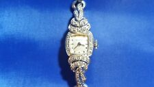 Vintage Wittnauer 14K White Gold and 40 Diamonds 17 jewels Women's Watch