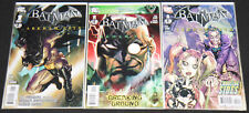 2011 DC BATMAN: ARKHAM CITY #1-3 - 3pc Mid-High Grade Comic Lot VF-NM Video Game