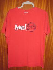 **LOOK** Lovely Red ANIMAL Freeride Cotton Logo T-Shirt UK Size L Free UK P+P