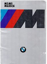 BMW M3 M5 M635 CSi 1986-87 German Market Brochure 3-Series 5-Series 6-Series