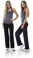 Ladies Cotton Stretch Tracksuit Bottoms Sports Gym Straight Leg Joggers Pants