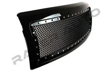 09-14 Ford F150 Chrome Rivet+All Black Front Hood Complete Mesh Grille+Shell
