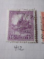 HONGRIE 1928, timbre CLASSIQUE 412, CATHEDRALE, oblitéré, VF CANCEL STAMP