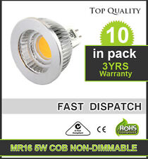 10X MR16 5W 12V LED Downlight Globes COB 80DEG C-Tick AU Approved Warm White