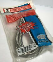 NEW Certified Appliance Braided Stainless 4' Washing Machine Hose 2 Pack 2500