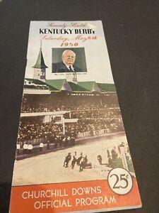 "1950 KENTUCKY DERBY UNMARKED 76TH RUNNING RACING PROGRAM ""MIDDLEGROUND""~BOLAND U"