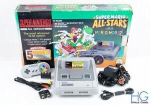 Super Nintendo SNES Super Mario All Stars Console Bundle Boxed! PAL