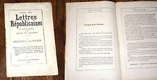 lettre républicaine I au citoyen Petit Prince de Gervais Martial 1875 Touchatout