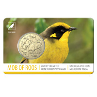 2020 $1 MOR ANDA Helmeted Honeyeater