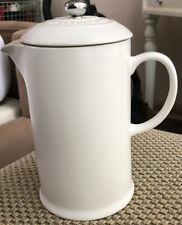 Le Creuset Stoneware 27-Ounce French Press, Cotton White
