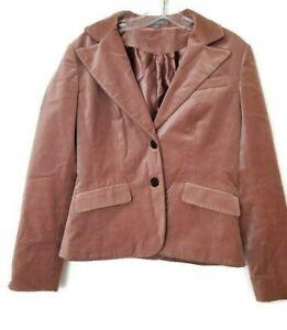Ann Taylor Women's Size 4 Two Button Velvet Blazer Dusty Pink