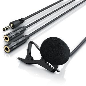 LIAM & DAAN Ansteckmikrofon Lavalier Mikrofon Clip-On Microphone Hohe Qualität