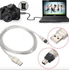 CABLE 1 Mètre Adaptateur USB FireWire IEEE 1394 iLink Apple Mini DV SONY Camera