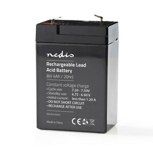 Replacement 6 Volt Sealed Rechargeable Lead Acid Battery - 6V 4Ah