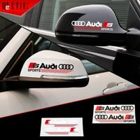 2x Audi Side Mirror Rear View Decals stickers Fit For All Audi Auto