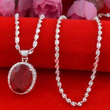 Jewelry Fashion 925 silver  ruby  zircon  Pendant  gift for women N-204