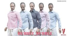 "5 x 1/6 Men Long Sleeves Dress Causal Shirt For 12"" Male Figure ☆SHIP FROM USA☆"