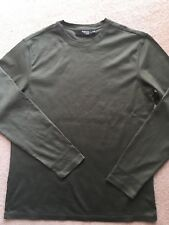 67a5029b New MURANO Liquid Luxury Cotton Slim Fit Olive Army Green Men Basic T Shirt  L
