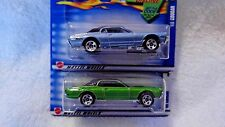 Hot Wheels 2002 #29 & #215 '68 Cougar- Two Color Variations