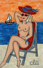 JACQUELINE DITT - Topless (Oben ohne) Gemälde 2015 Bilder Bild Frau Akt nude art