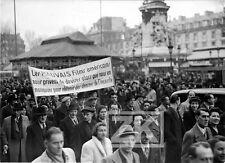 MANIFESTATION Politique CINEMA Français US Foule République Paris Photo 1948 #1