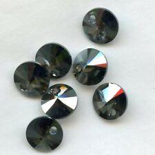 6428 8 MS *** 10 perles cristal Swarovski mini breloque 8mm METALLIC SILVER 2X