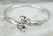 925 Sterling Silver Mermaid Bangle Bracelet Jewelry NEW Gorgeous!