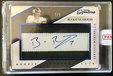 2016 Signatures #SCF-BR Ben Roethlisberger Autograph 2 Color Patch 2/5 Steelers