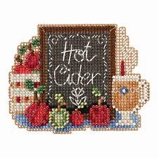 Hot Cider Bead Cross Stitch Kit Mill Hill 2018 Autumn Harvest MH181826