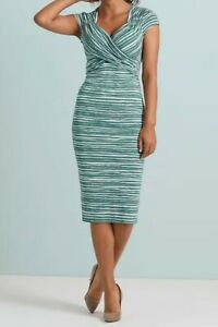 New Bravissimo 8-18 CRC RSC FLO WRAP Green Sage Party Casual flattering Dress
