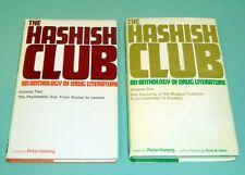 2 Books HASHISH CLUB DRUG COLERIDGE CROWLEY PSYCHEDELIC LSD HASHEESH Tim Leary