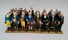 Vintage 1960's Marx U.S. Presidents Painted Figures- Lot of 35- Washington-LBJ