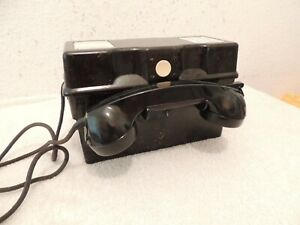Altes Feldtelefon Militär BW Bakelit