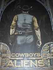Florian Bertmer Mondo Cowboys & Aliens Poster Limited Edition Silkscreen Print